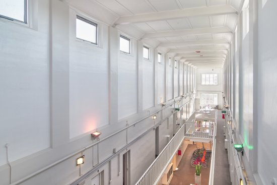 Jailhouse Accommodation: Central Atrium from Warden Observation Area