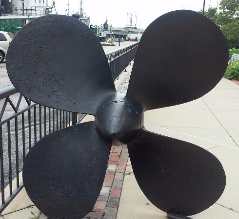 Sturgeon Bay, WI: John Purves propeller.