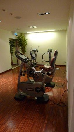 Jazz Hotel: Salle de sport, petite mais bien équipée : tapis de course et vélos