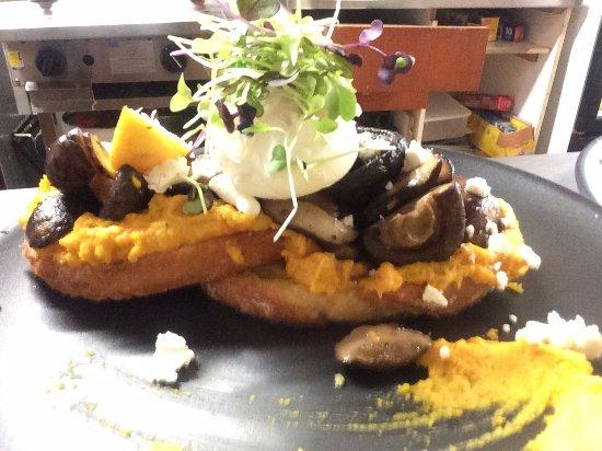 Lancefield, Australien: Mushroom Bruschetta
