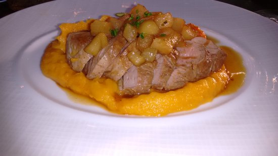 Stockton, Νιού Τζέρσεϊ: Duck Breast, apple chutney, squash puree