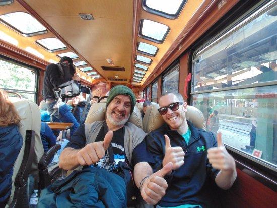 Inca Rail: Con una Americano de Chicago.
