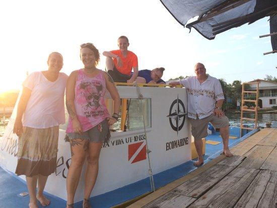 Utila, Honduras: Ecomarine's Boat