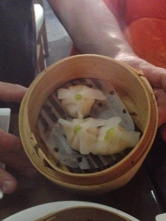 Greater London, UK: wasabi shrimp & crabmeat dumplings