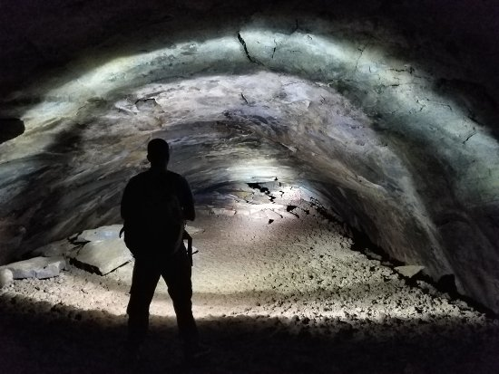 This is the Lava Tubes west of Flagstaff,  AZ.  A must day trip from Phoenix.