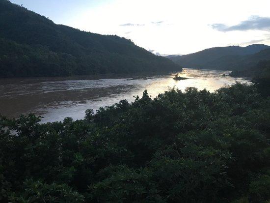 Pakbeng, لاوس: Vista dalla terrazza della camera