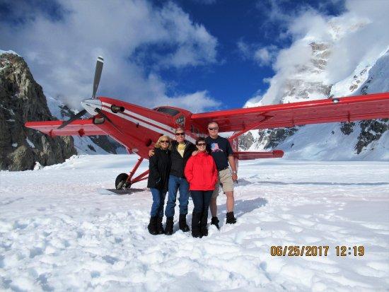 Talkeetna, AK: 60th birthday celebration by landing an airplane on a glacier.