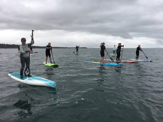 Mt Eliza, Australia: SUP VIC Club paddle in Westernport Bay.