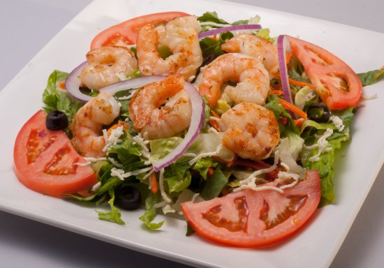 Theodore, AL: Freshly prepared house salad accompanied with either grilled shrimp or chicken.