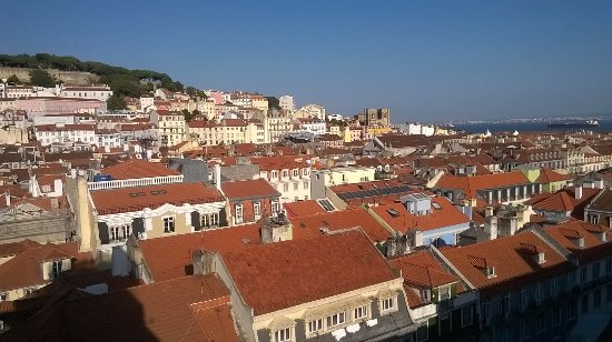 """Bairro Alto: View from """"Hippest Coolest Lisbon"""" Airbnb, overlooks Baixa and Alfama."""