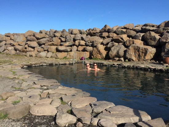 Saudarkrokur, Islandia: The big pool, which is very hot at one end