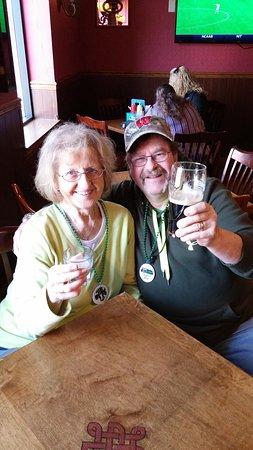 Maple Grove, MN: Enjoying a Birthday toast