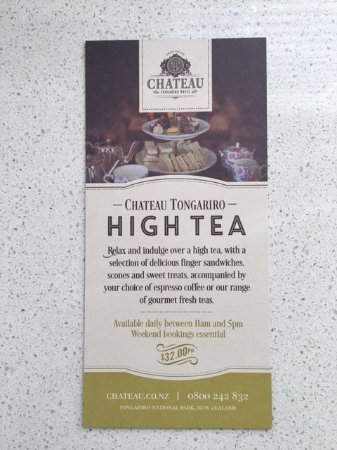 Chateau Tongariro Hotel: High Tea
