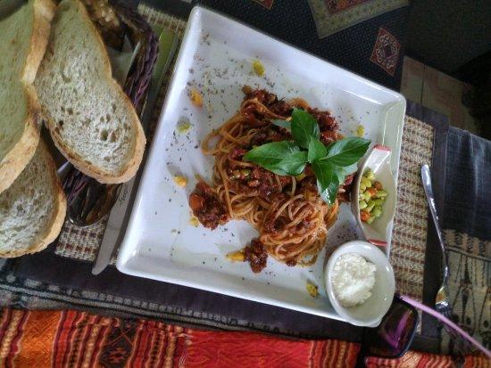 Janine cafe: Spaghetti bolognese