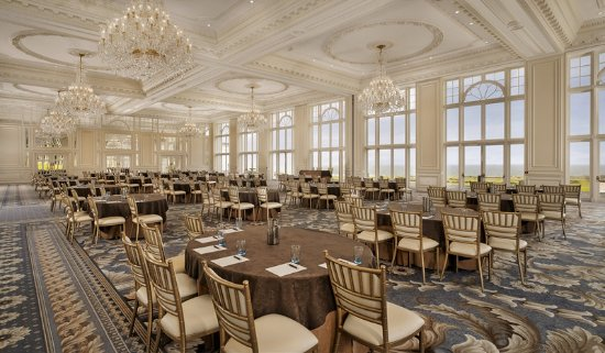 Turnberry, UK: The Donald J. Trump Ballroom - cabaret set up