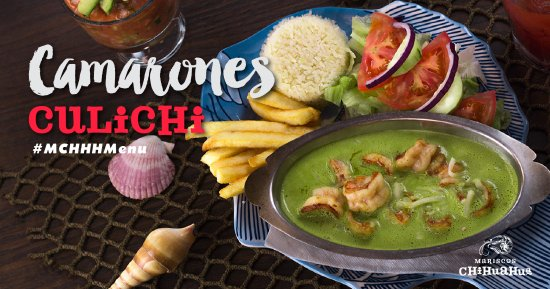 Nogales, AZ: Shrimp sautéed in our house spice served in a creamy green sauce.