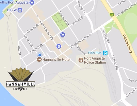 Port Augusta, Australia: Our Hotel is one street back from Commercial Road and can be accessed from Flinders Tce
