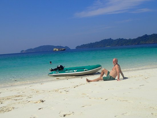 Kawthoung, Myanmar: Relaxing on the pristine beach!