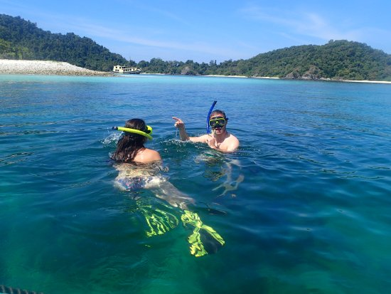 Kawthoung, Myanmar: Snorkel in crystal clear water.