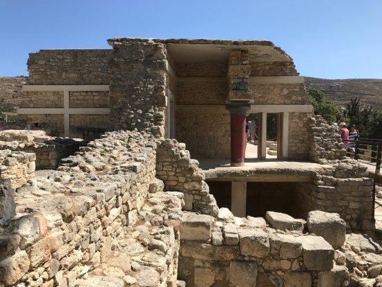 Malia, Grecia: Ruiner i övre delen av palatset