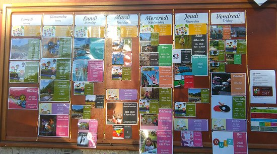 Saint-Julien-des-Landes, France: Activity Board for the week from the campsite