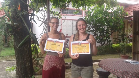 Pakse, Laos: Cooking class on 26.8.2017 . 2 girl from France  :)