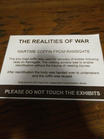 Ramsgate, UK: Wartime Coffin
