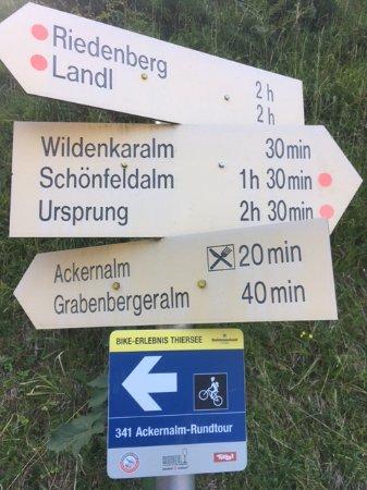 Thiersee, Austria: Auch für Mountinbiker eine Rundstrecke