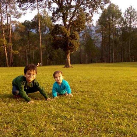 My kids at Golf course Ranikhet