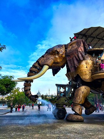 Les Machines de L'ile : The elephant in action, spraying water