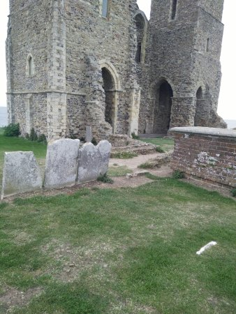 Herne Bay, UK: The Towers with old Grave stones
