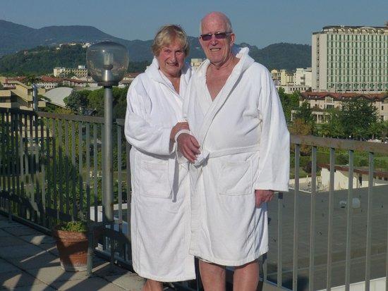 Hotel Grand Torino: Am Pool auf der Dachterrasse im 6. OG