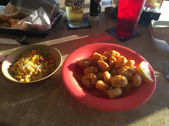 Sea Hag's Bar and Grill: Hag's Shrimp and Southwestern Corn