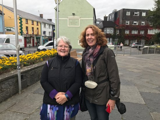 My wife, Ennis, & I enjoyed our walk around Ennis with Jane, experiencing the town's history and