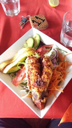 Brasilito, Costa Rica: Lobster salad @ Papaya