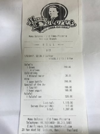 Mama Dolores - Yen Akat: bill from mama dolores