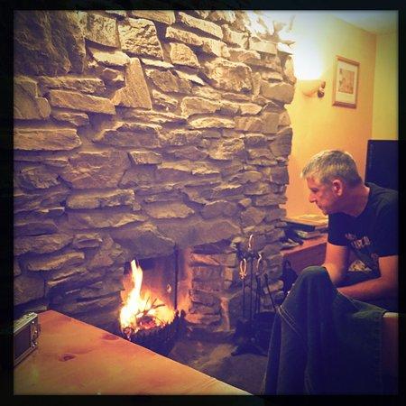Ballinskelligs, Ireland: Peat fire courtesy of Des :)
