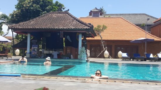 Satriya Cottages: Main pool with swimup bar