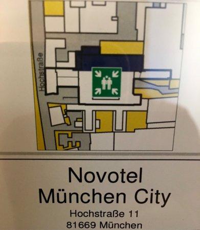 Novotel Munich City : Emergency gathering location