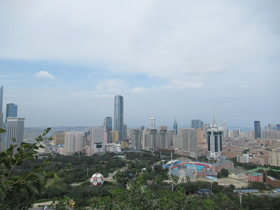 Dalian Sightseeing Tower: 高台からの大連市内全景