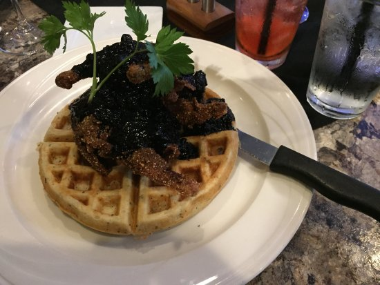 Cascade, ID: Quail on waffle, juice meat and a waffle so tender and yummy!