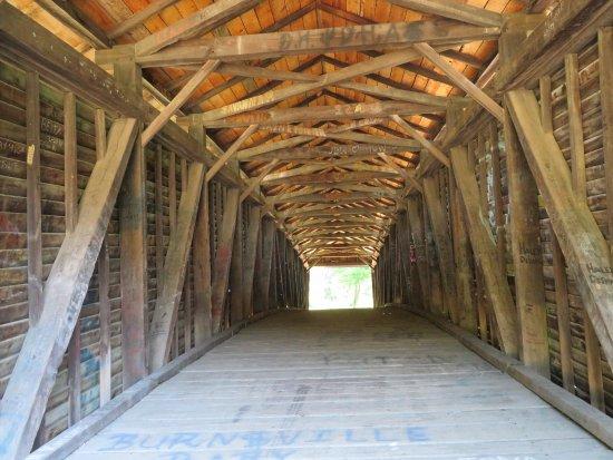 Covington, VA: Inside the bridge.