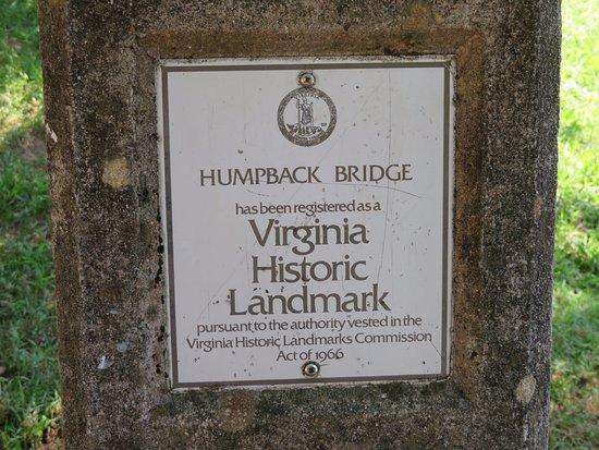 Covington, VA: Historic Landmark at entrance of the bridge
