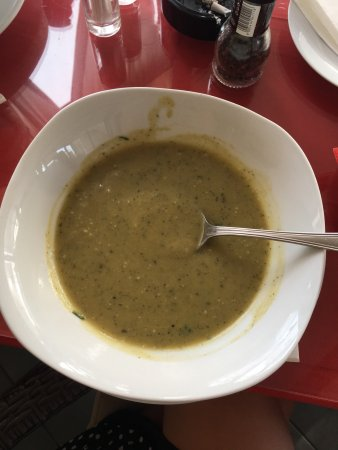 Gajeta Konoba: I was so exited when to soup got on my table, that I couldn't even wait to post a picture on soc