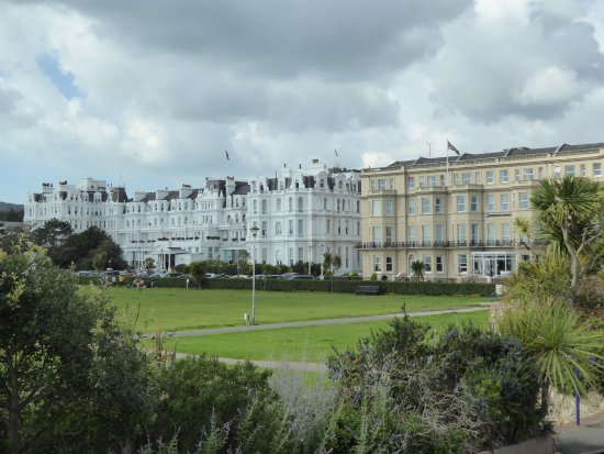 The Grand Hotel Eastbourne: The Grand is the white building to the left of this shot