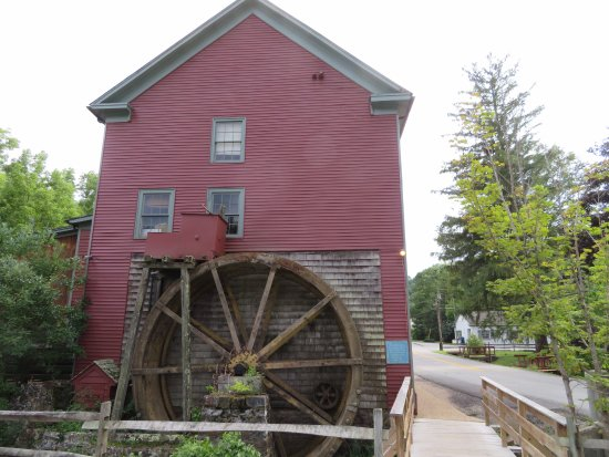 Warm Springs, VA: View of the Waterwheel from the parking lot