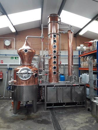 Albury, UK: The heart of the distillery! Heath Robinson would approve.