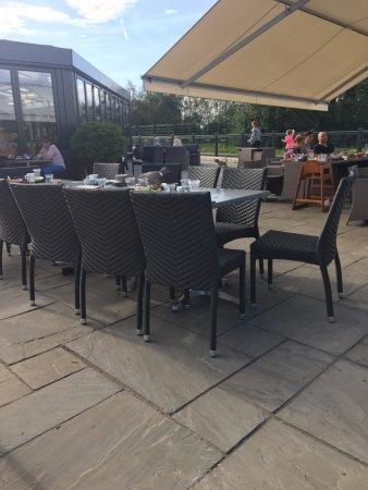 Esher, UK: Pigeon enjoying his food