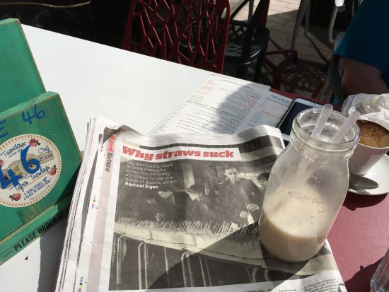 New Brighton, UK: and the article in the café about them