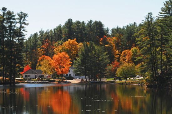 Madison, Нью-Гэмпшир: Fall colors at Purity Spring Resort, NH